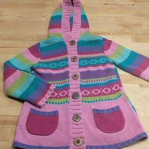 Maggie and Zoe girls multi-colored sweater 6-7